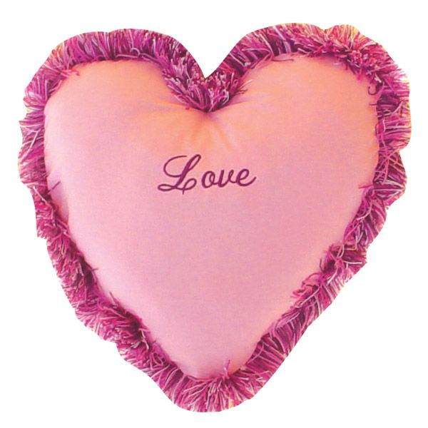Valentine Pink Heart Novelty Pillow