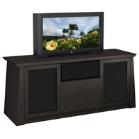 70%27%27 Contemporary Asian TV Stand with Tapered Legs