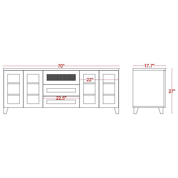 70 u0026 39  u0026 39  wide shaker tv stand console