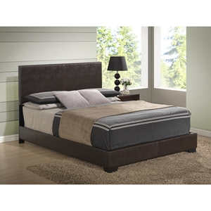 Cameron Leatherette Bed, Brown