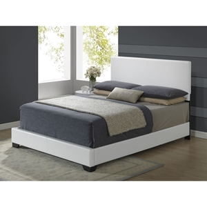 Cameron Leatherette Bed - White
