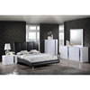 Alejandro Leatherette Bed in Black - GLO-8272-BL-M-BED