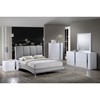 Alejandro Leatherette Bed in Gray - GLO-8272-GR-M-BED
