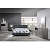 Brady Leatherette Bed in Black Matte - GLO-8284-B-M-BED