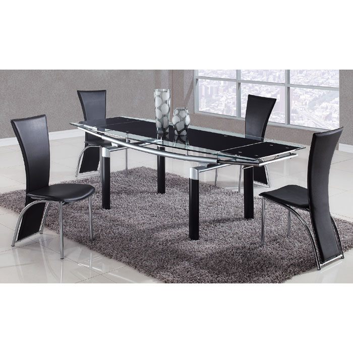 Linford Glass Top Extension Dining Table DCG Stores : 88dt 1499dc 5pc bl from www.dcgstores.com size 700 x 700 jpeg 86kB