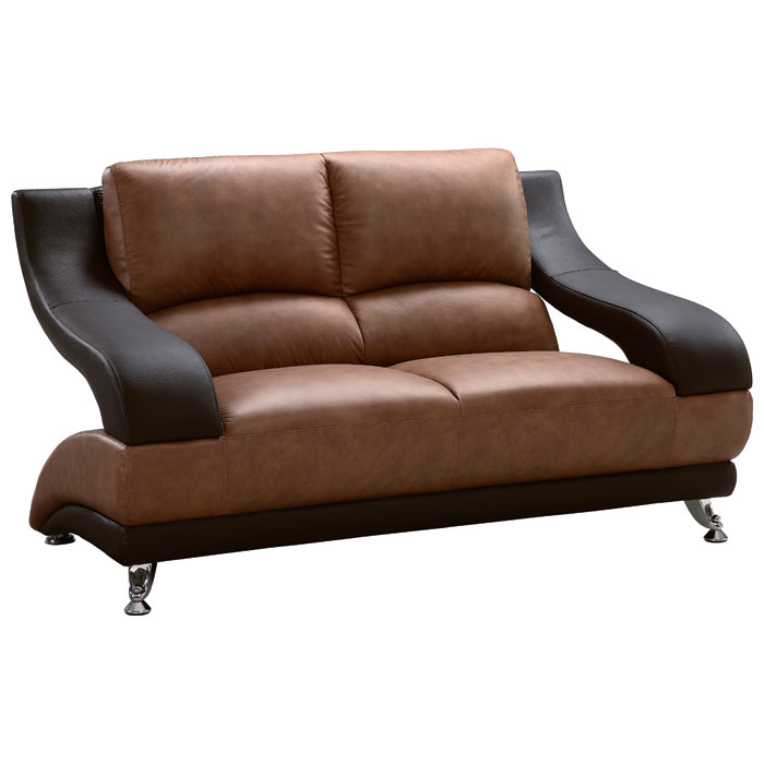 caio two tone modern leather sofa and loveseat dcg stores rh dcgstores com two tone leather sectional sofa two toned leather sofa sets