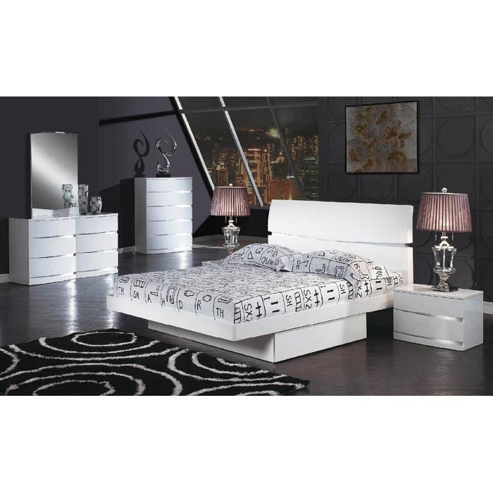 Aurora Contemporary 4 Piece Platform Bedroom Set
