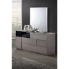 Bianca Dresser in High Gloss Gray and Black - GLO-BIANCA-916-GR-BL-D
