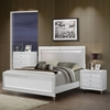 Catalina Bedroom Set in Metallic White - GLO-CATALINA-MET-WH-M-BED-SET