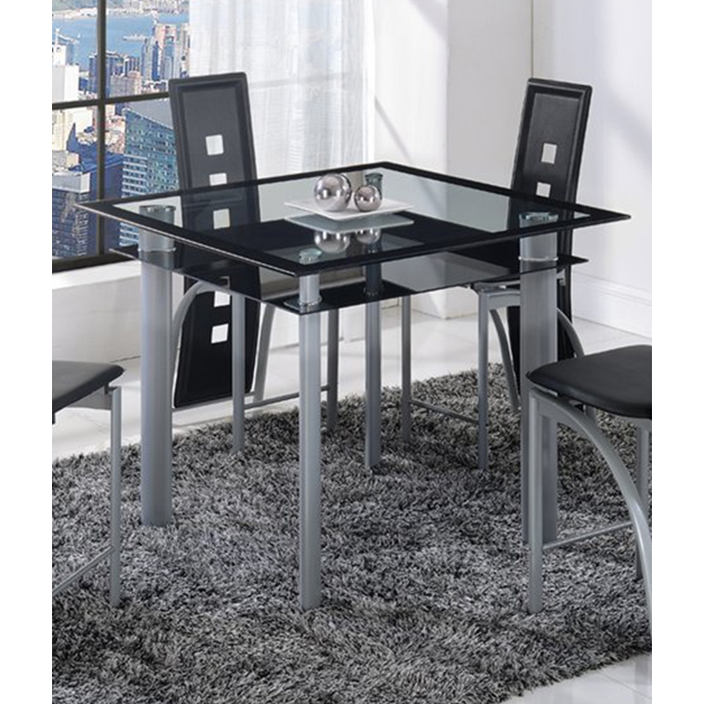 Sophia Counter Height Table Black Stripe Dcg Stores
