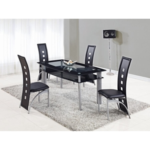Colby 5-Piece Dining Set in Black