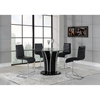 Sophie Bar Stool in Black and Chrome - GLO-D1086BS-M