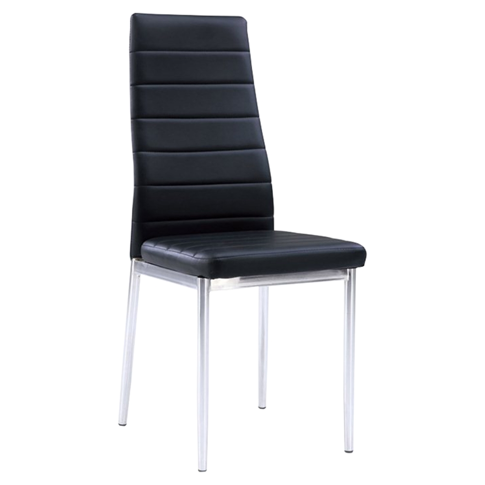 Karina dining chair chrome legs black dcg stores for H furniture ww chair