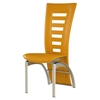 Sabrina Yellow Dining Chair with Silver Legs - GLO-D290NDC-YELLOW