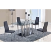 Karina Dining Table Clear and Black - GLO-D368DT-M