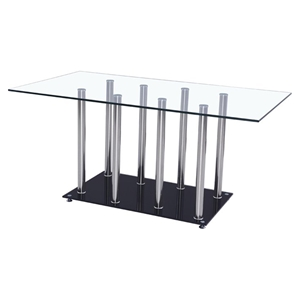 Karina Dining Table Clear and Black