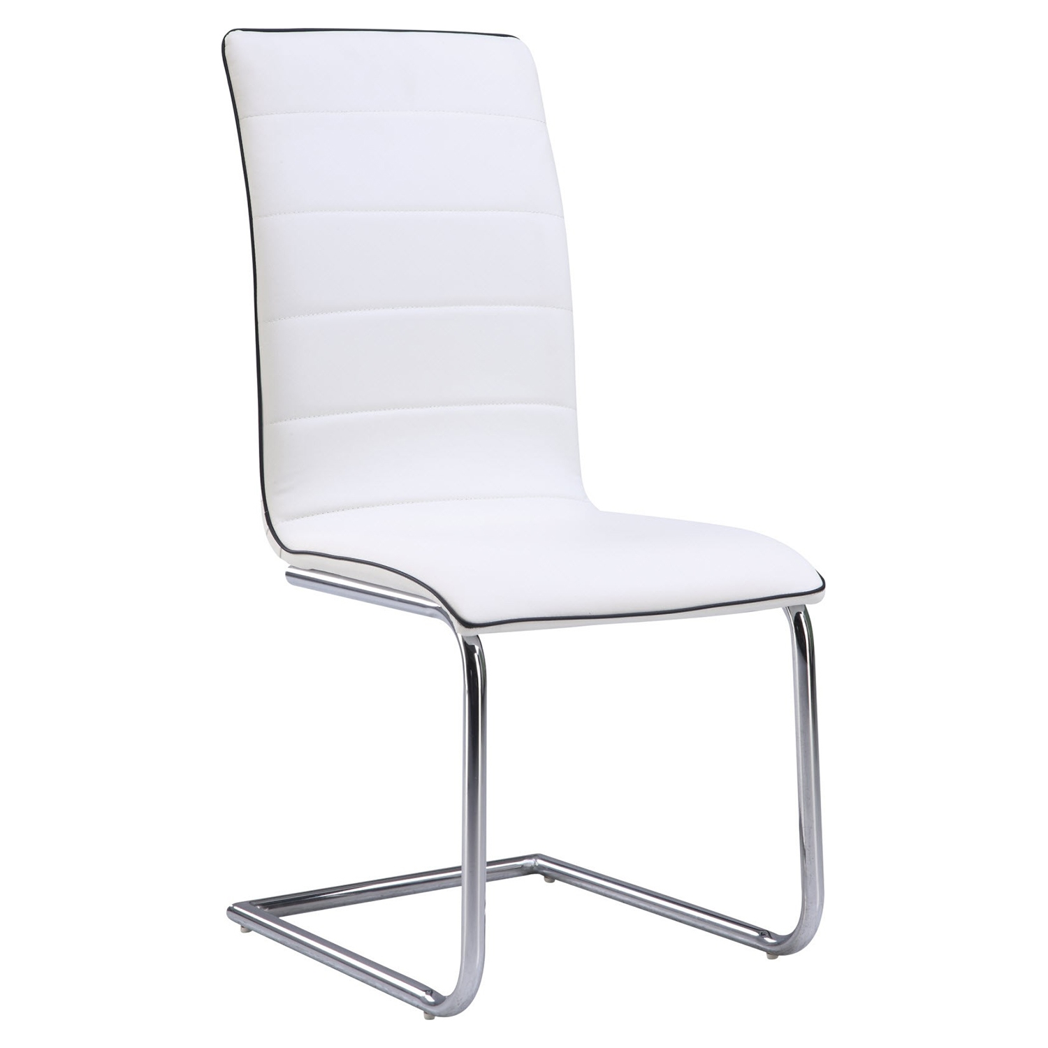 Dining Side Chair White Upholstery Chrome Legs DCG Stores : d490dc wh m from www.dcgstores.com size 500 x 500 jpeg 40kB