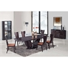Sara Dining Side Chair in Wenge, Brown Microfiber Seat - GLO-D52N-W-DC