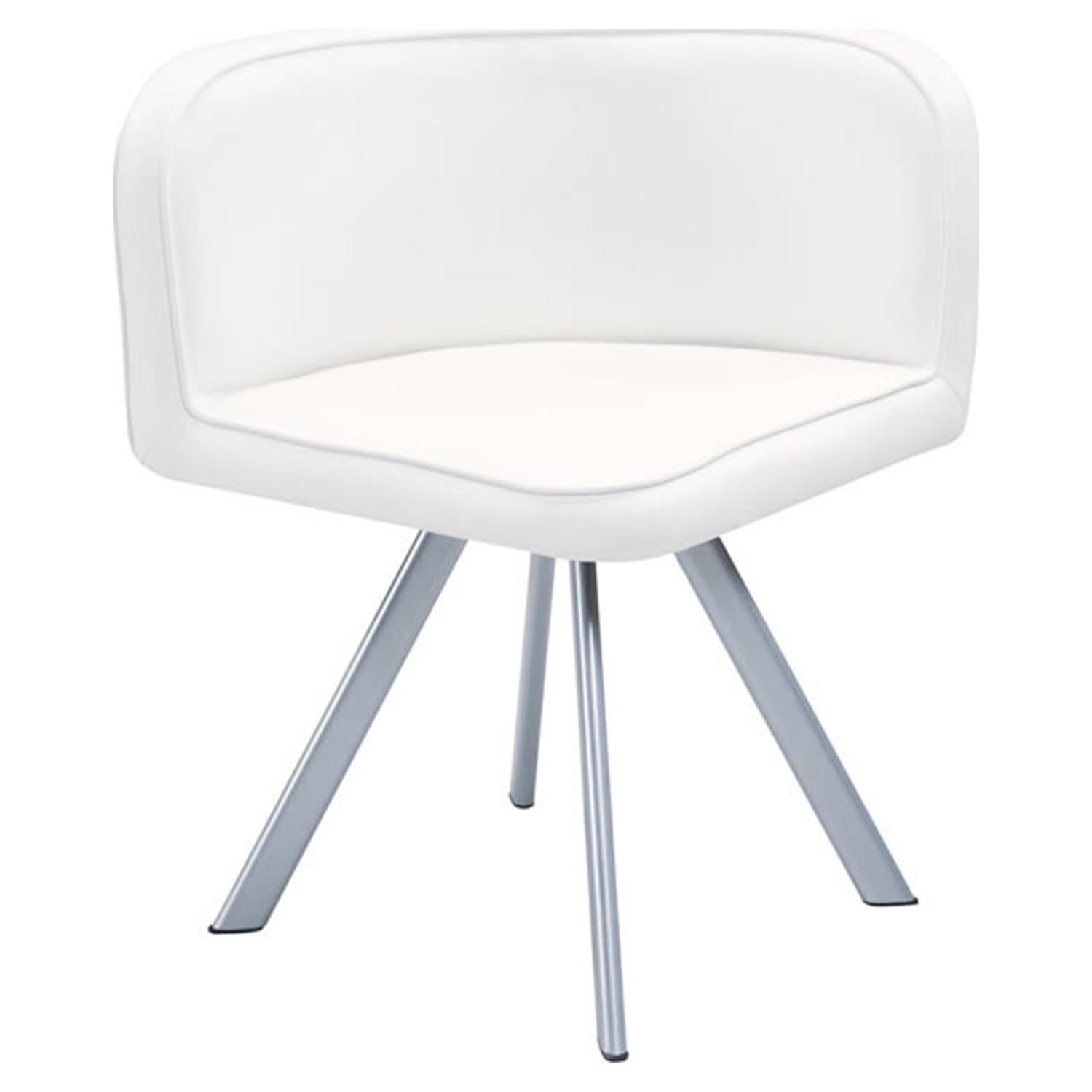 Emma Dining Chair - White (Set of 2) - GLO-D536-1-WH-DC-M