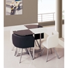 Emma 5-Piece Dining Set in Black/White - GLO-D536-BL-WH-M-SET