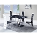 Kiara Dining Table - Black Glass, Stainless Steel Legs - GLO-D551DT