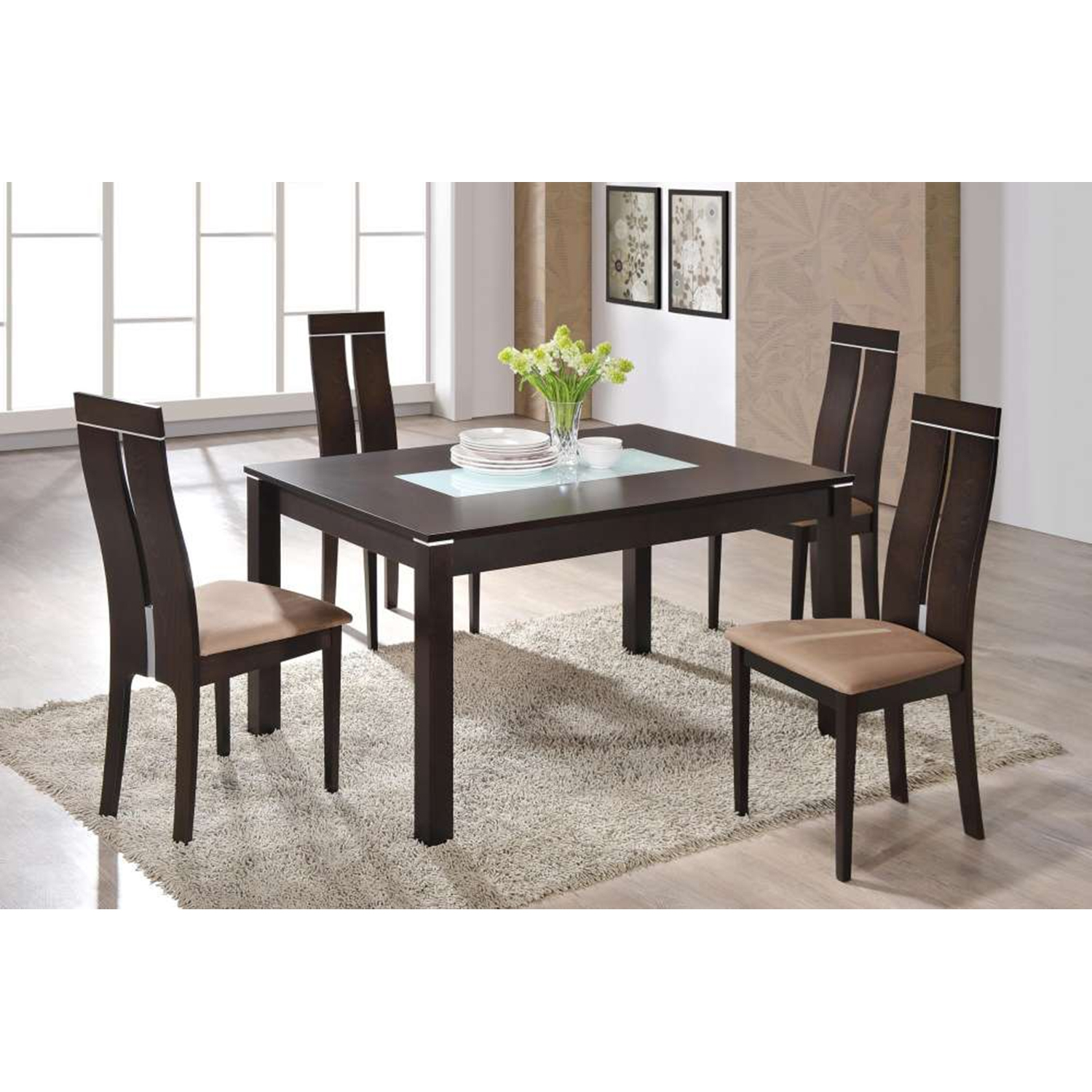 Lillian Extension Dining Table, Dark Walnut - GLO-D6948-DT-M