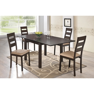 Shelby 5-Piece Dining Set in Dark Walnut