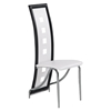 Dining Chair White with Black Trim - GLO-D803DC-WH-M