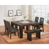 Tristan 6-Piece Dining Set - Brown - GLO-DG020-BR-SET