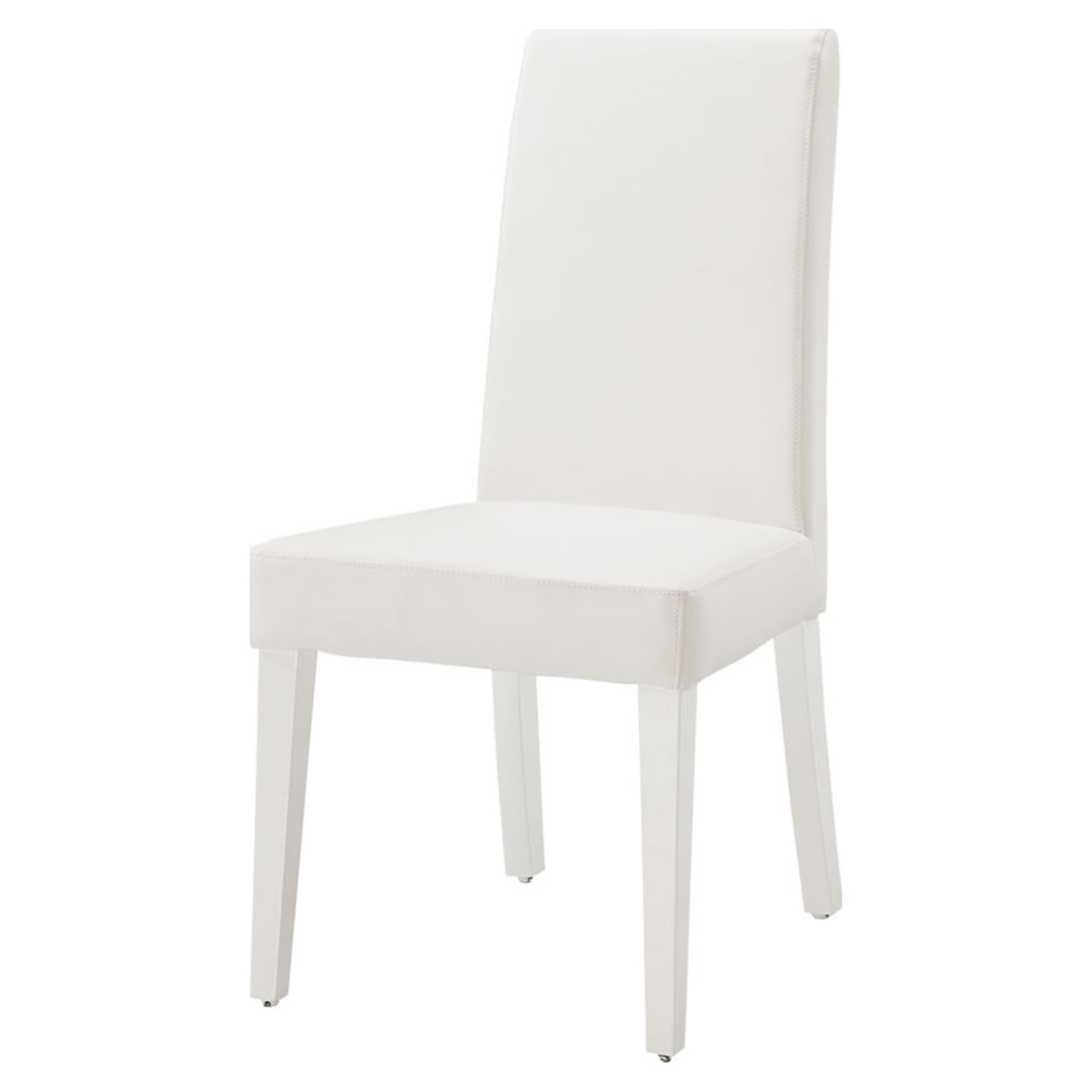 Tristan Dining Chair, Glossy White - GLO-DG020DC-WH-KD-M