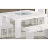 Tristan Dining Table - Glossy White - GLO-DG020DT-WH