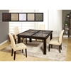 Dynasty Marble Stone Dining Table in Wenge - GLO-DYNASTY-BROWN-D041DT-M