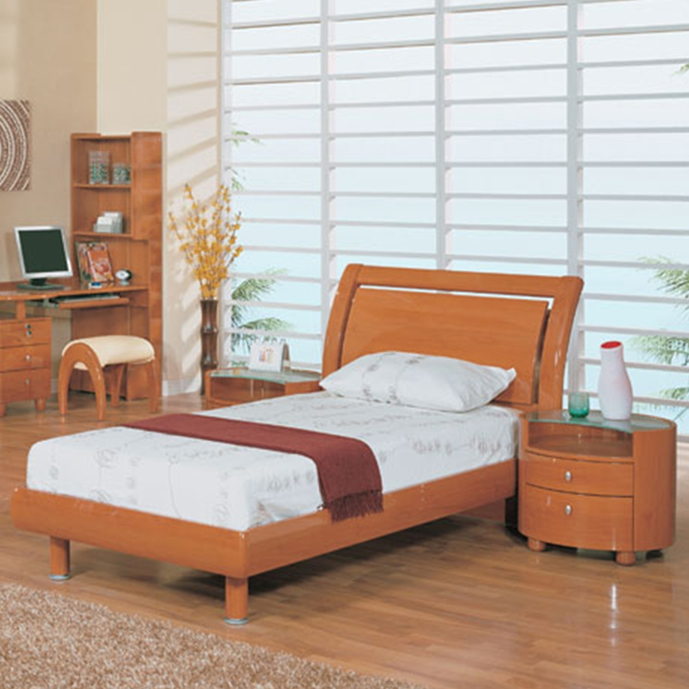 Kids Bedroom Furniture Stores: Emily Kids Wooden Bedroom Set In Cherry