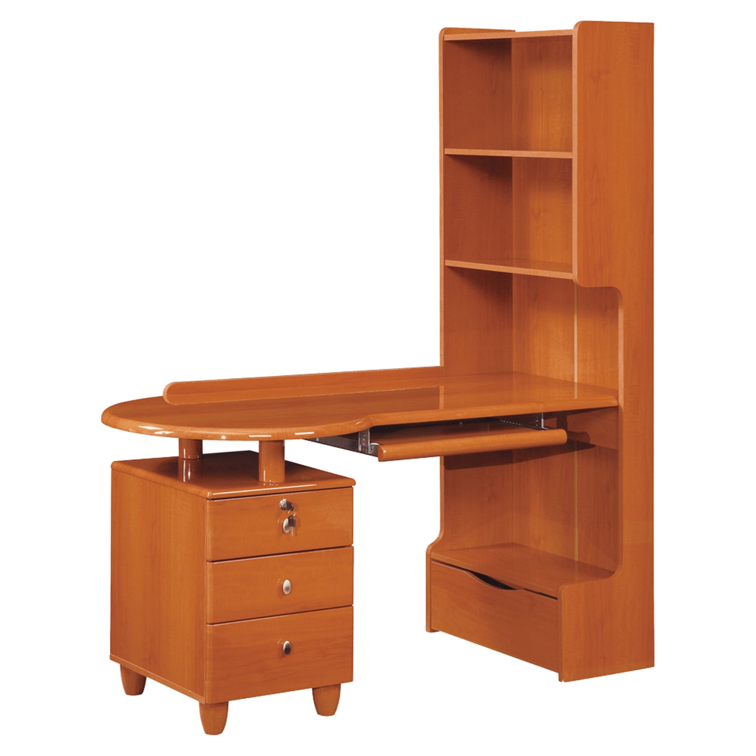 Emily Study Desk - Cherry - GLO-EMILY-B86-CH-KIDS-SD