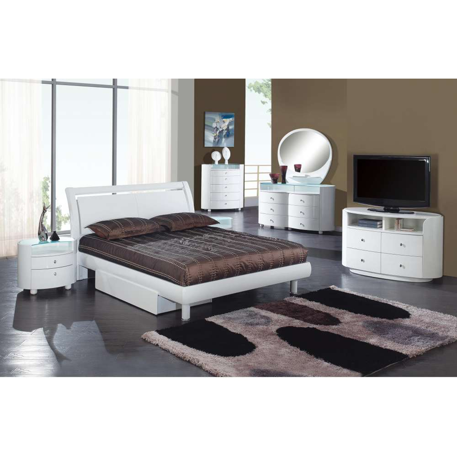 Emily Bed in White - GLO-EMILY-B86-WH-BED