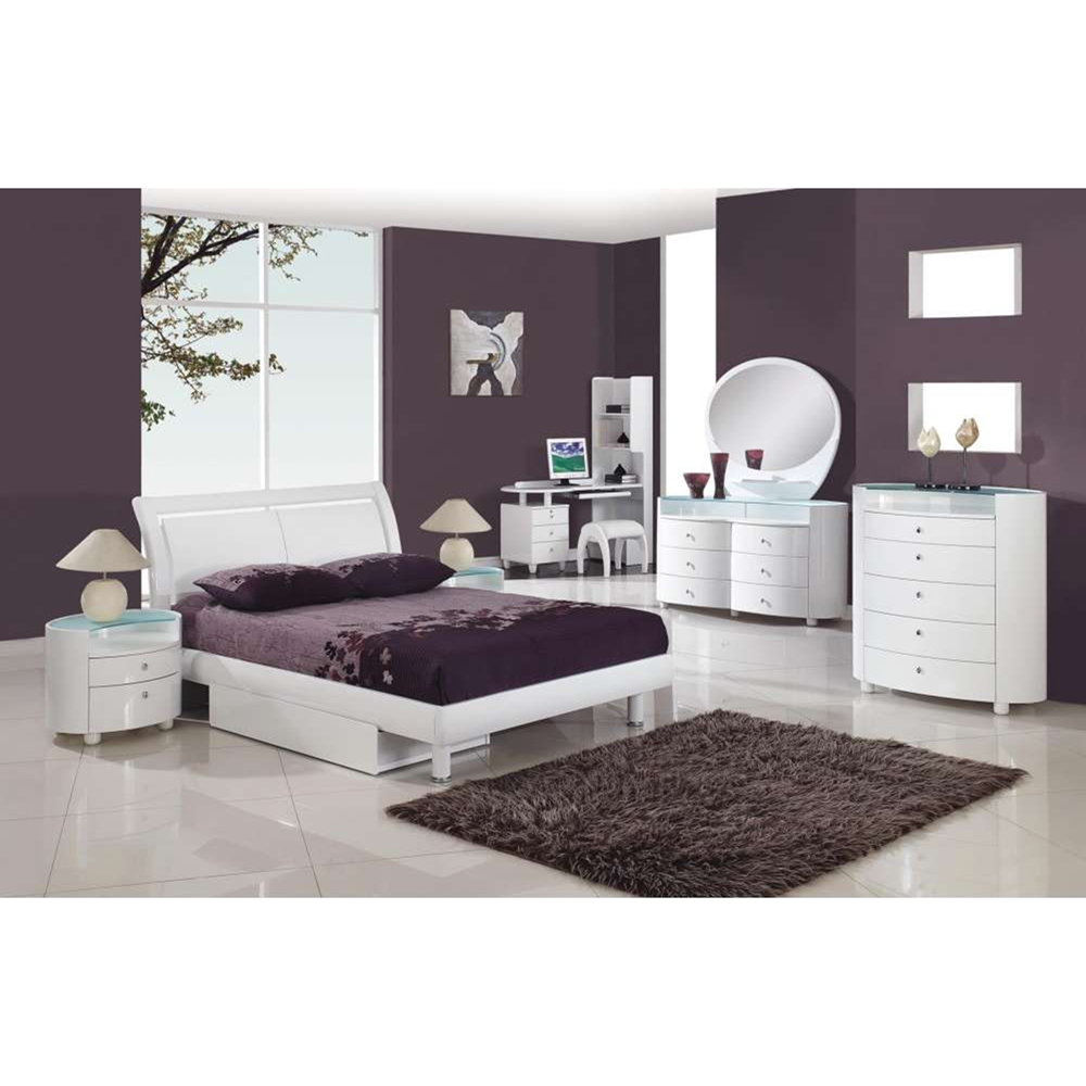 Emily Bedroom Set In White DCG Stores