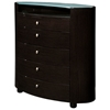 Emily Contemporary 5 Drawer Oval Chest - GLO-EMILY-XX-CH