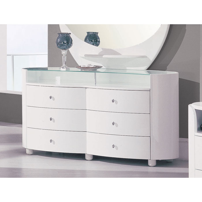 Emily Contemporary 6 Drawer Oval Dresser   GLO EMILY XX DR ...