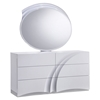 Eva Bedroom Set in High Gloss White - GLO-EVA-120-BED-SET