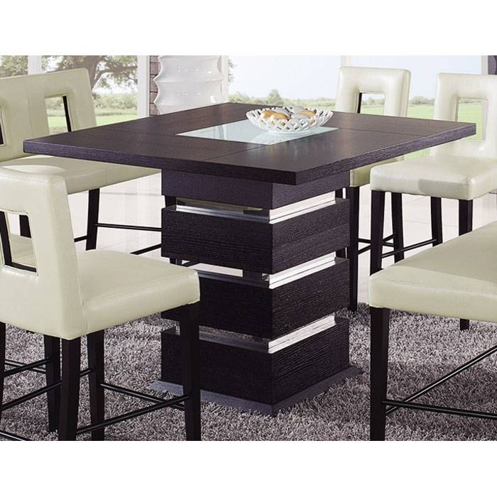Brinley Bar Table with Frosted Glass Accent - GLO-DG072BT