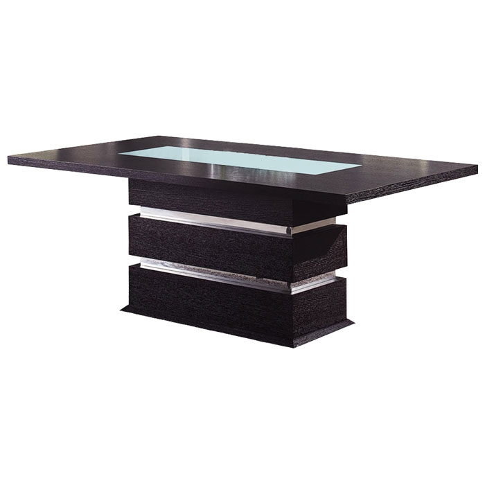 Brinley Dining Table with Frosted Glass Accent DCG Stores