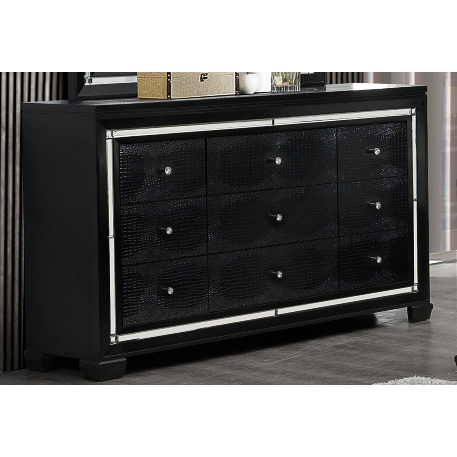 Galaxy Dresser - Metallic Black - GLO-GALAXY-D-M