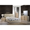 Grace Bedroom Set in High Gloss Zebra Cherry/Champagne - GLO-GRACE-125-BED-SET