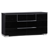 Hailey Dresser, High Gloss Black - GLO-HAILEY-100-D