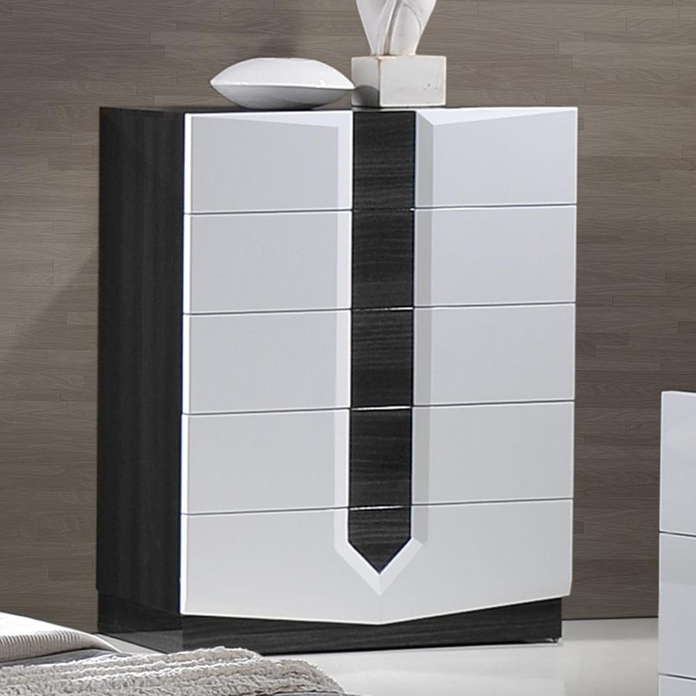 bedroom set high gloss zebra gray and white glo hudson 988 set