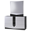 Hudson Dresser - High Gloss Zebra Gray and White - GLO-HUDSON-988-D