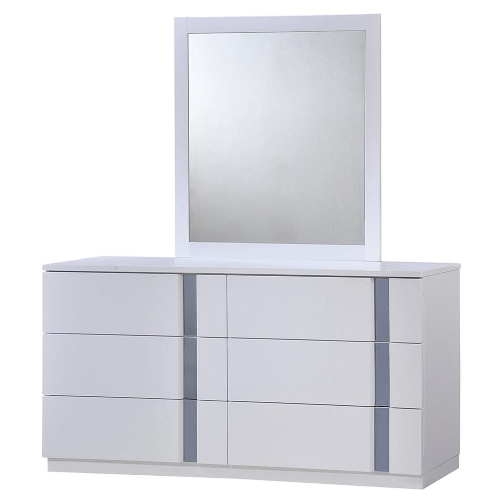 Jody Bedroom Set In High Gloss White Dcg Stores