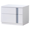 Jody Nightstand, High Gloss White - GLO-JODY-911A-NS-M