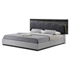 Lexi Bedroom Set in Silver Line/Zebra Gray - GLO-LEXI-982A-S-GR-BED-SET