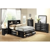 LinDa Bed, Black - GLO-LINDA-BL-M-BED